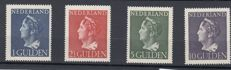 "The Netherlands, 1946 - Queen Wilhelmina ""Konijnenburg"" - NVPH 346/349"