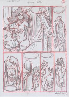Azpiri, Alfonso - Original sketchpage (p.8) - Wet Dreams