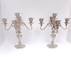 Pairpoint - a pair of high 5-arm candlesticks - Art Nouveau / Jugendstil