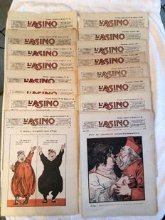 L'Asino - 51 magazines - from 1920