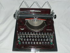 Typewriter Continental portable, brown marbled