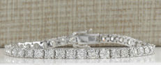 12.00 Carat Diamond Tennis Bracelet In 14K Solid White Gold - Length: 7.5 inches (19.05 cm) *** Free Shipping *** VS Diamonds ***
