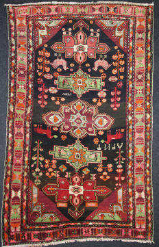 Magnificent VINTAGE RUSSIAN rug, 1937 knotted in the rug, 276 x 170 cm