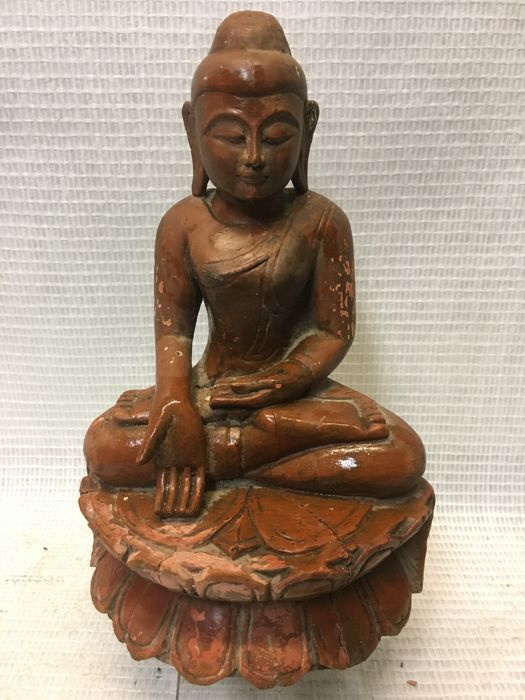 Buddha Varada Mudra - wood - Nepal Birma - 2nd half of 20th century