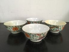 Porcelain Famille Rose Bowls -  China - 19th century