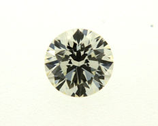 Brilliant cut diamond, 0.82 ct, M/LC HRD certified, in pouch