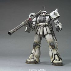 Bandai MG ZAKU 2 MS-06J White Ogre 1/100 and Gundam Universal Unit Display 4 pieces