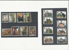 World - Collection of stamps and blocks on stock cards and in stock books