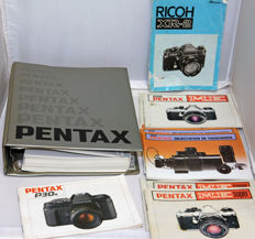 Special book with all historical analogue Pentax models