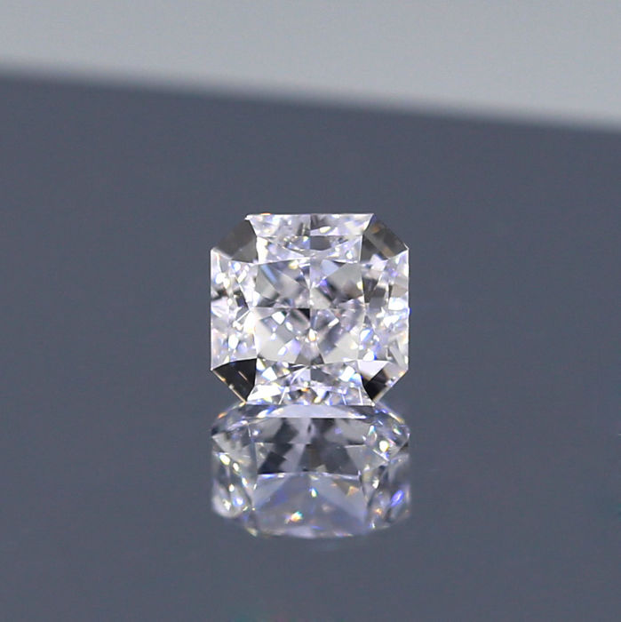 Natural E color Cut Cornered Square Modified Brilliant 1.02 ct VVS2 Diamond, GIA Certified