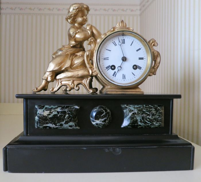 French mantel clock. 19th century.