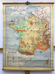 Old school poster map France