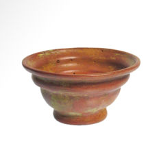 Egyptian Red Glass Patella Cup, 8.8 cm D / 4.5 cm H
