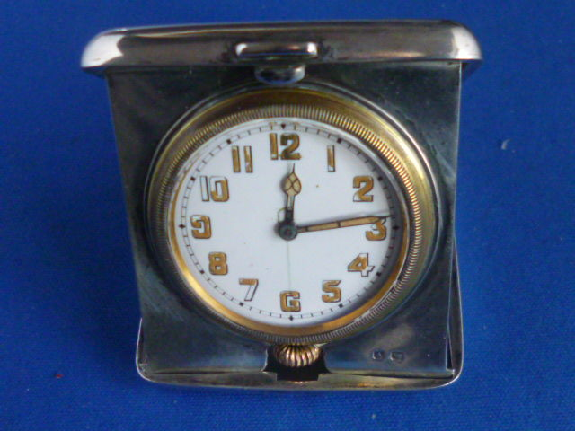 Silver travel clock - William Neale & Sons Ltd - Birmingham - 1920