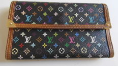 Authentic Louis Vuitton Multicolour Porte-Tresor International wallet.