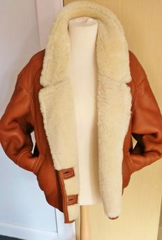 Genuine Sheepskin Leather Flying Jacket in Excellent Condition