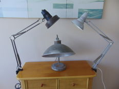 Unknown designer – Three industrial lamps