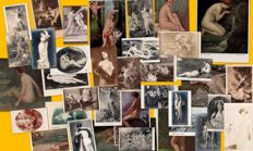 Nudes in art - special collection of 36 postcards, approximately 1900 (23 of Salon de Paris)