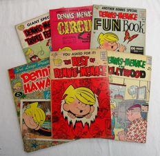 Dennis the Menace - lot of 6 special and out series albums - (1959/1967)