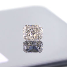 1.28 Ct. Natural F Color Si1 Radiant cut diamond.