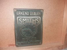 Clock alarm clock English advertising sign very nice and good from that time