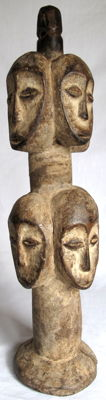 Impressive multi-faced Figure called 'Mister Many-heads' – Lega – D.R. Congo