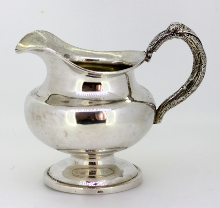 Antique Russian Silver Cream Jar, Assayed by Eduard Brandenburg - 1856 - St. Petersburg