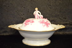 Meissen-tureen with lid - knob time