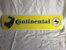 Old tin Continental sign - c. 1970 - 48 cm wide / 12 cm high