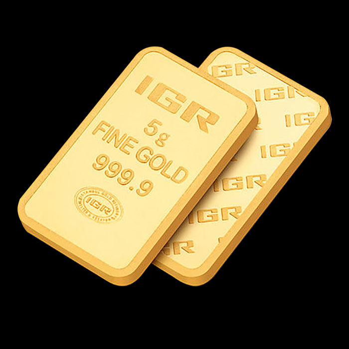 5 Gr Sealed  Fine Gold Bar 24K