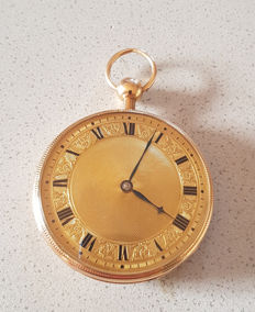 12.  Breguet - 14kt splendid gold pocket watch - quarter repeater with 14kt gold dial - made circa 1810