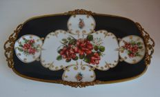 Limoge - antique tray - signed