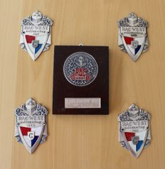 5 badges RAC-West Ridderschap