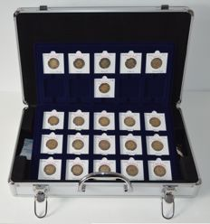 Euroe - 2 Euro 2012 'Ten years Euro' from 18 countries (22 coins in total) + case