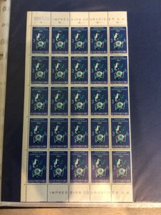 Luxembourg - collection of stamp blocks and entire postal items