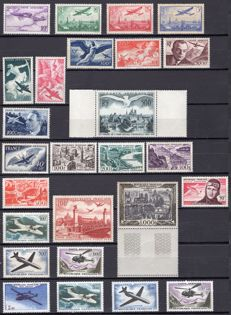 France 1930/1964 - Airmail collection - Yvert no. 7, 8, 11/12, 16/29 and 34/41