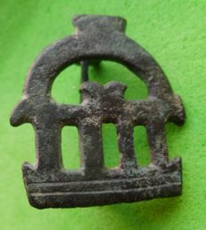Lot of fibulae of the Roman Empire - 2.6 x 2.3cm; 3.5cm and 3,6 x 2 cm (2)
