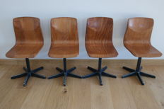 Thur-Op-Seat - lot of 4 vintage children's chairs