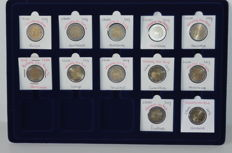 Europe - 2 Euro 2007 'Treaty of Rome' from 9 countries (12 coins in total)