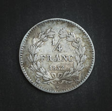 France - ¼ Franc 1832 K (Bordeaux) - Louis Philippe I - Silver