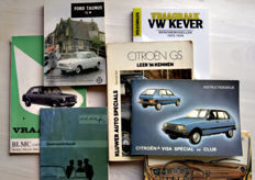 7 Dutch instruction booklets - Citroën, Daf, VW Kever, Ford Taunus, BMC