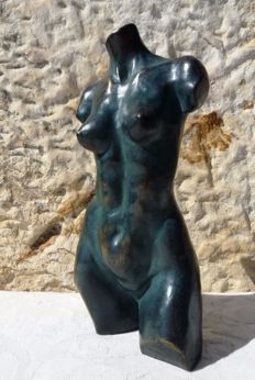 "Luis Jorda - ""Le Buste II"" - Bronze sculpture on resin - Certificate of authenticity hand-signed by the Artist"