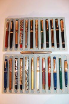25 gold and silver plated executive pens - second half of the 20th century