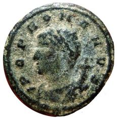 Roman Empire - POP ROMANVS AE4 Anonymous issue, by Constantinus I (307-337 AD). AE4 (14 mm, 0.88 g), Constantinople CONSΓ