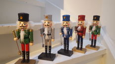 Five  solid wooden nutcrackers/doll - Christmas decoration