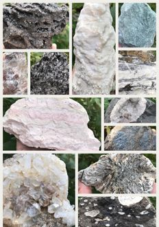 Collection of large minerals - 8,382 g (12)