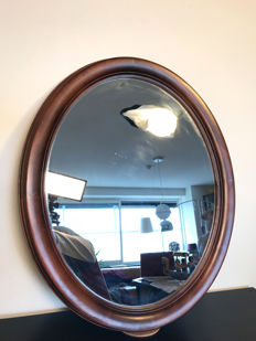 A Large Biedermeier Style Mahogany Mirror - Late 20th Century