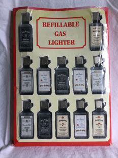 12 stuks - Collector item - Refilliable gas lighters - circa 1960