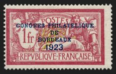 France 1923 - Bordeaux Philatelic Congress, signed Calves - Yvert n° 182.