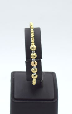 14k yellow , white and rose gold Bungle 6.7 x 5.5 cm
